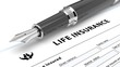 Leinwanddruck Bild - Life insurance policy