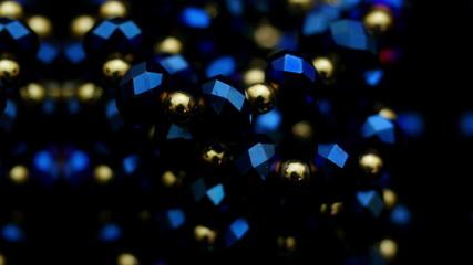 Costume jewellery closeup. 4K UHD 2160p footage.