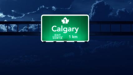 Calgary Highway Road Sign