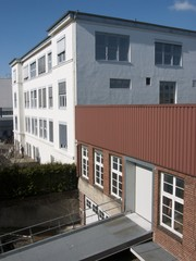 Restaurierte Fabrikfassaden in der Sudbrackstraße in Bielefeld