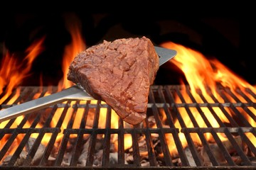 Meat Chop Cooked On The Barbecue Grill