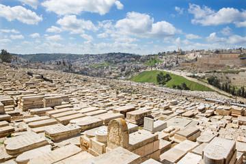 Jerusalem - jewish cemetery on the Mount of Olive