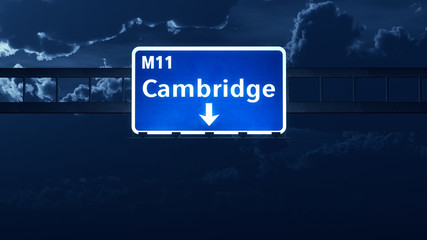 Cambridge England United Kingdom Highway Road Sign