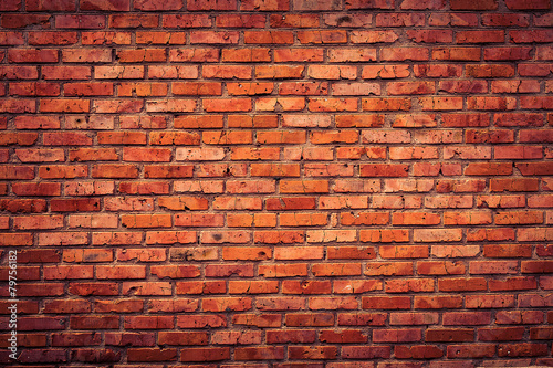 Foto op Plexiglas Wand Old grunge brick wall background