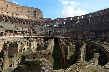 Interno ed esterno del Colosseo