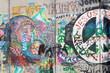 Bethlehem - The Detail of graffitti on the Separation barrier