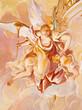 Banska Staivnica - fresco of angels in church of baroque calvary