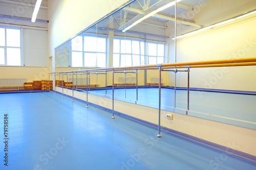 Fotobehang Stadion The interior of the dance studio
