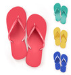 Set of Realistic Colorful Flip Flops Slippers. - 79758734