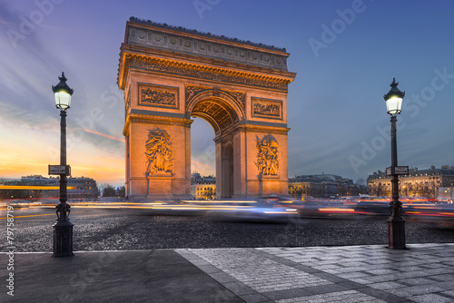 Leinwanddruck Bild l'Arc de triomphe.