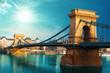 Chain bridge Budapest Hungary - 79759112