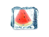watermelon and ice cube