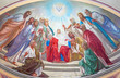 canvas print picture - Jerusalem - Pentecost fresco in Russian cathedral