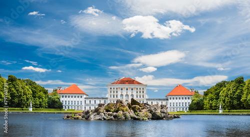 Leinwandbild Motiv Nymphenburg castle grounds in Munich, Germany
