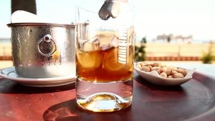 Whiskey on the beach