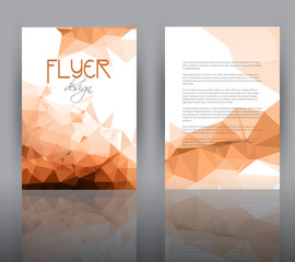 Low poly design for flyer template