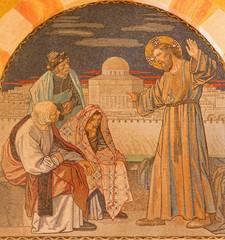 Jerusalem - Jesus among the scribes mosaic