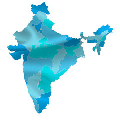 インド 地図 国