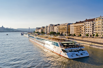 Cruise ship in Hungary