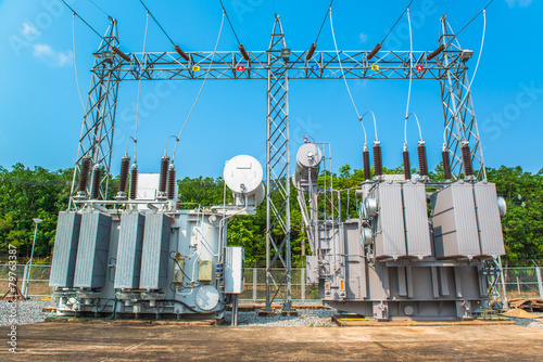 Transformer station and the high voltage electric pole - 79763387