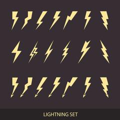 Lightning set. Huge vector icon set