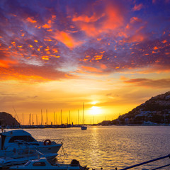 Mallorca port de Andratx sunset in Mallorca