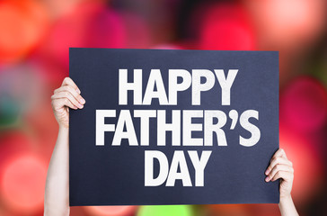Happy Father's Day card with bokeh background