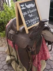 Saddle in Scottsdale in Arizona on the outskirts of Phoenix USA