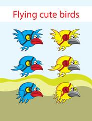 Flying bird animation,art vector design