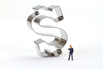 Manager mit Dollar Symbol