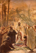 canvas print picture - Paint of entry of Jesus in Jerusalem (Palm Sanday).