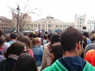 Muchedumbre en Valencia