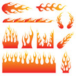 Flame Decals - 79765773