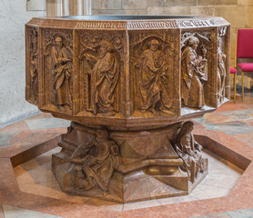 Vienna - marble baptistery of St. Stephens cathedral