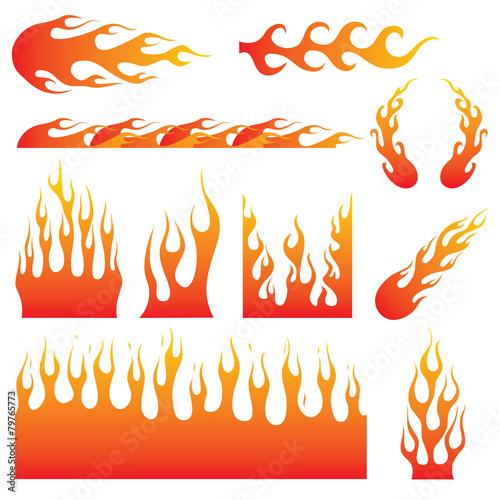 Płomienne kalkomanie