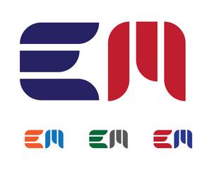 E, EM Logo
