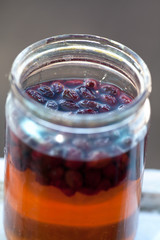 jam in a glass jar