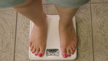 Woman on Weight Scale Sequence