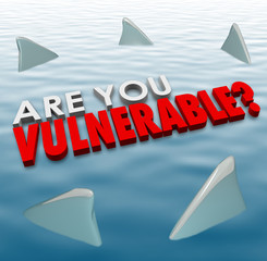 Are You Vulnerable Shark Fins Danger Risk Security Safety