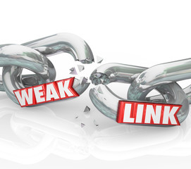Weak Link Chains Breaking Broken Bad Performance Poor Job