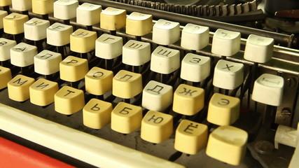 Retro typewriter rotates