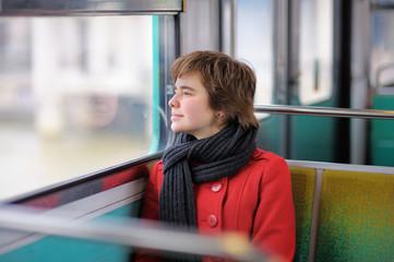 Girl in Parisian metro