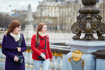 Friends in Paris on the Pont Alexandre III