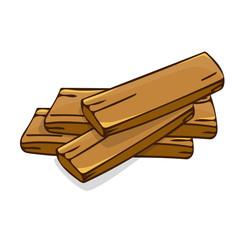 wood planks isolated illustration