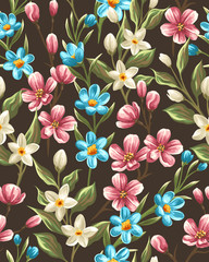 Floral seamless pattern © hoverfly