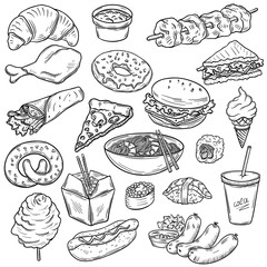 Collection of food