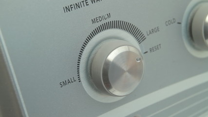 Washing Machine Sequence Set Dials