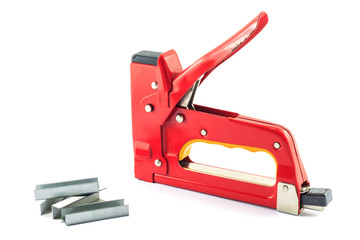 big max stapler shot for plywood boards isolated