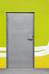 WC door and sign men of public toilets