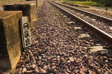 Wooden railway milestone number 488